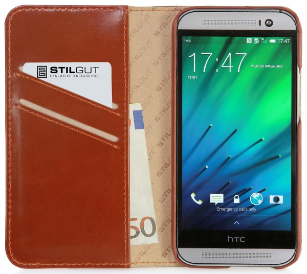 "StilGut - Leather case ""Talis"" for HTC One M8 / M8s"