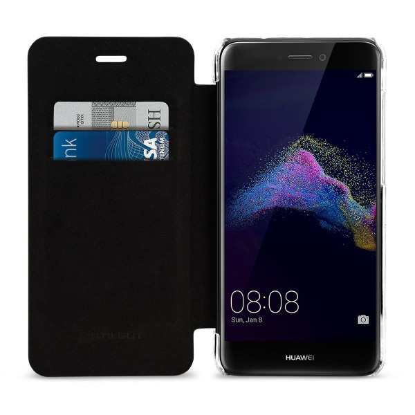 StilGut - Huawei P8 lite 2017 Book Type NFC/RFID Blocking Case