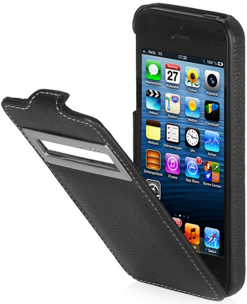 StilGut - Leather case with caller ID window for iPhone 5 & iPhone 5s