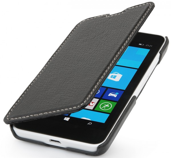 "StilGut - Leather case ""Book Type"" for Nokia Lumia 630/635"