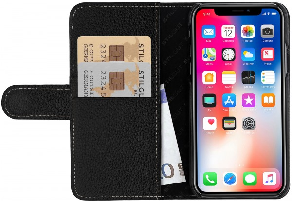 StilGut - iPhone X Cover Talis with Card Holder