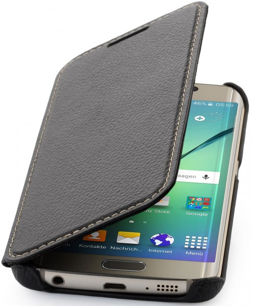 "StilGut - Galaxy S6 edge leather case, ""Book Type"" without clip"