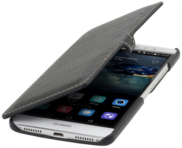 StilGut - Huawei Mate S cover Book Type in leather with clip