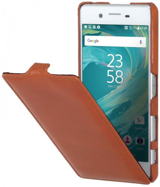 StilGut - Sony Xperia X Performance case UltraSlim in leather