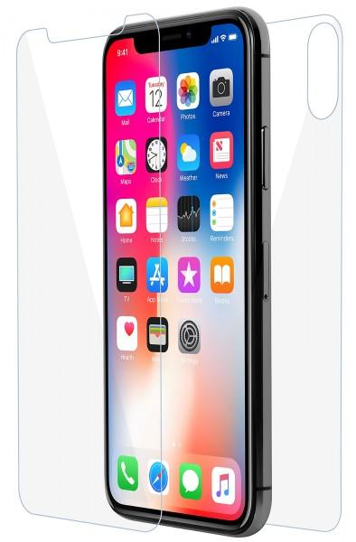 StilGut - iPhone XS Tempered Glass Front & Back Side