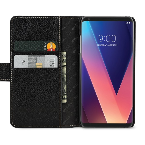 StilGut - LG V30 Cover Talis with Card Holder
