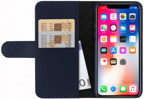 StilGut - iPhone XS Cover Talis with Card Holder