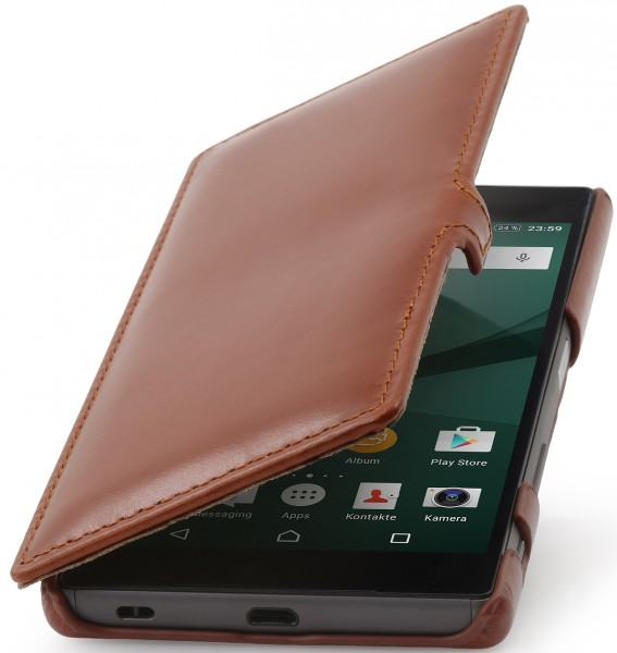 StilGut - Xperia Z5 leather case Book Type with clip
