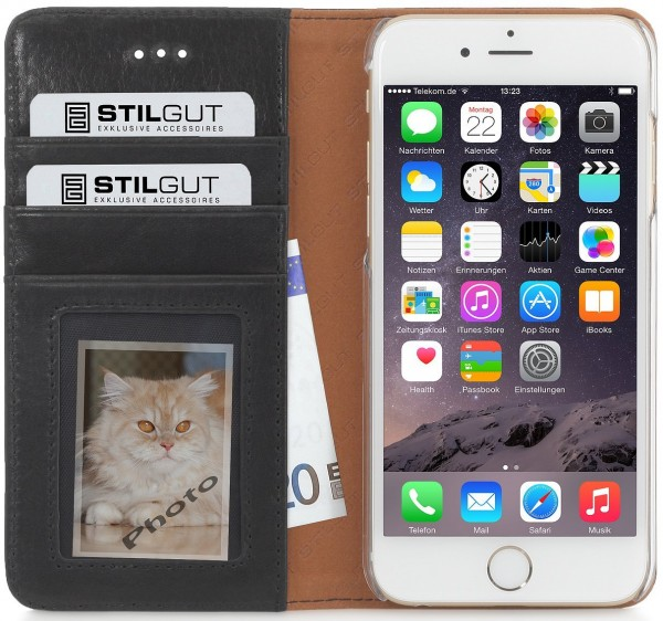 "StilGut - iPhone 6 Plus leather case, Talis ""Italian collection"""