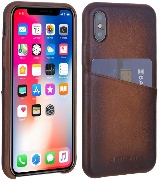 StilGut - iPhone XS Cover Premium with Card Holder