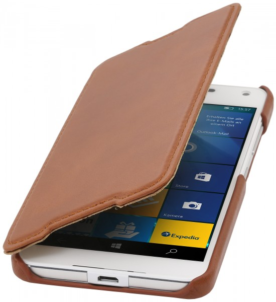 StilGut - Lumia 650 cover Book Type in leather without clip