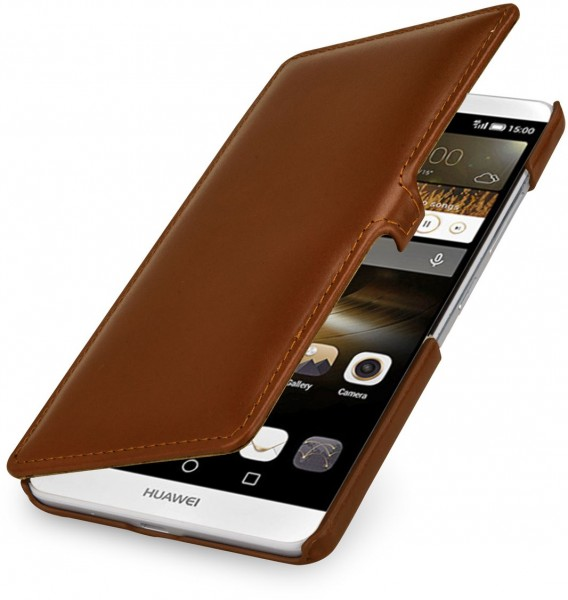 """StilGut - Huawei Ascend Mate 7 leather case """"Book Type"""" with clip"""