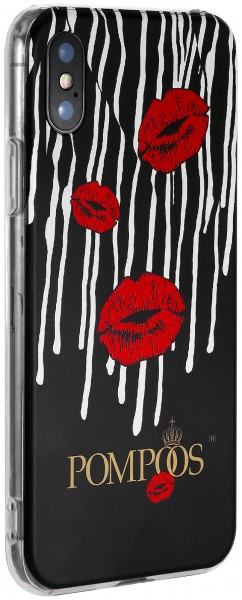 POMPÖÖS by StilGut - iPhone X Cover Kiss - Design by HARALD GLÖÖCKLER
