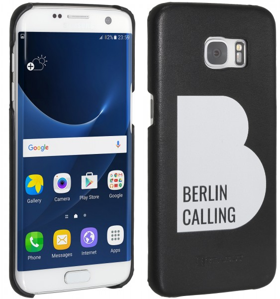StilGut - Samsung Galaxy S7 edge Cover Berlin Calling in Leather - Like Berlin Edition