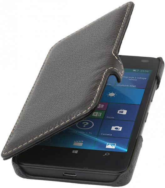 StilGut - Lumia 550 cover Book Type in leather with clip