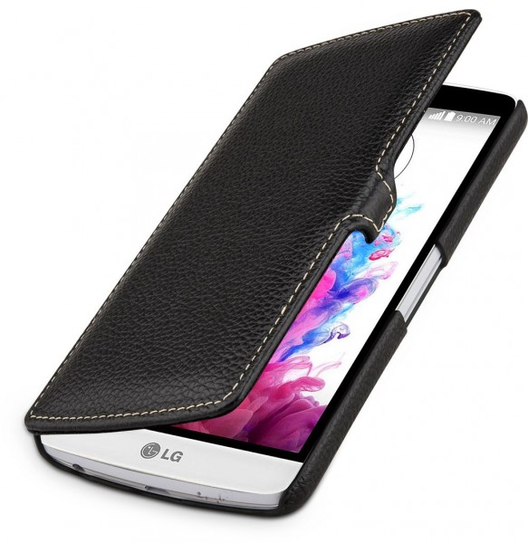"StilGut - LG G3 Stylus leather case, ""Book Type"" with clip"