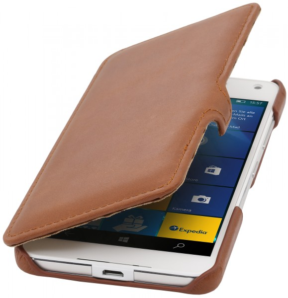StilGut - Lumia 650 cover Book Type in leather with clip