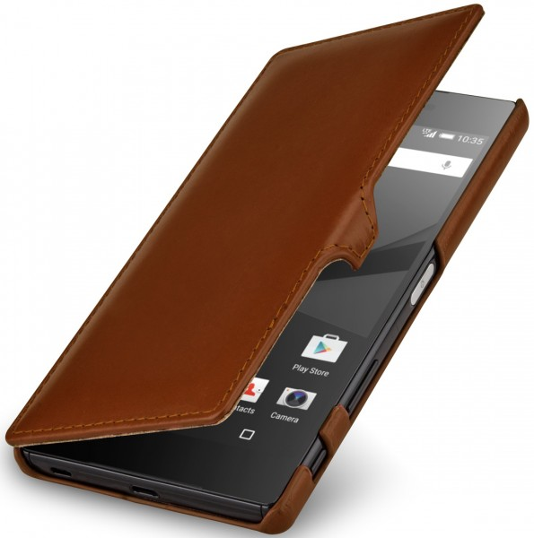 "StilGut - Xperia Z5 Premium leather case ""Book Type"" with clip"