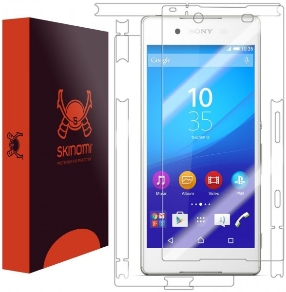 Skinomi - Screen protector for Xperia Z3+ TechSkin back and front sides