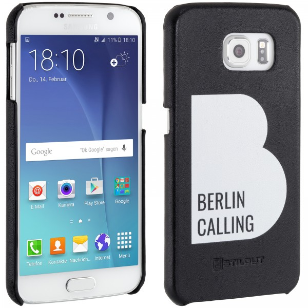 StilGut - Samsung Galaxy S6 Cover Berlin Calling in Leather - Like Berlin Edition