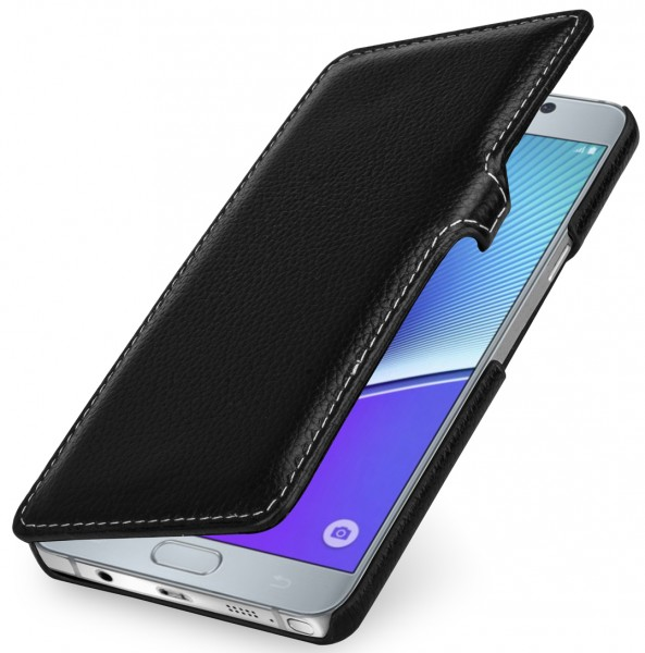"""StilGut - Galaxy Note 5 leather case """"Book Type"""" with clip"""