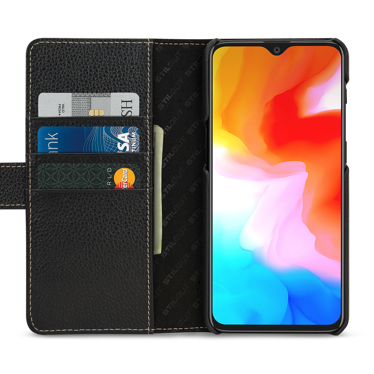 Oneplus 6t Cover Talis With Cards Holder Amp Magnetic Flap