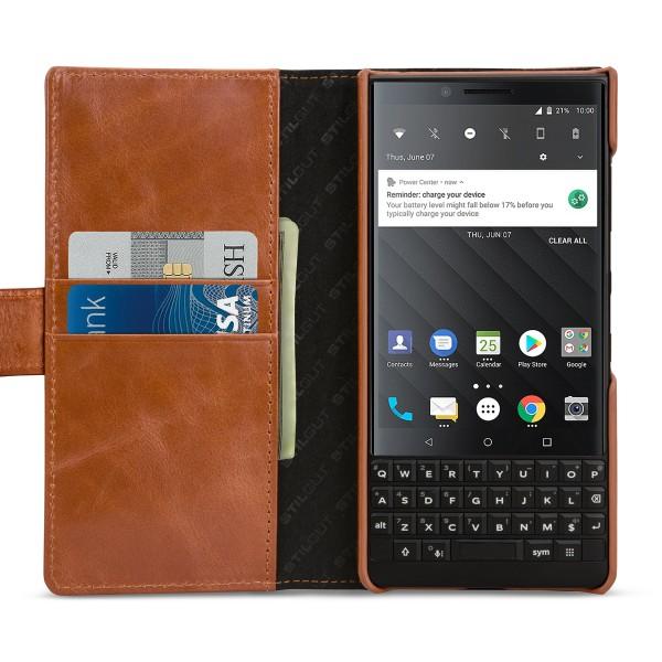 StilGut - BlackBerry KEY2 Cover Talis with Card Holder