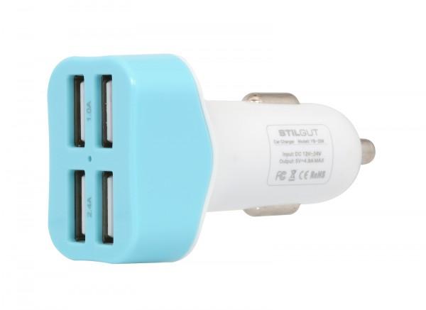 StilGut - USB car charger with 4 connectors