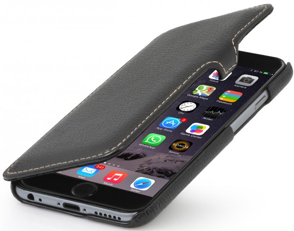 "StilGut - iPhone 6 leather case ""Book Type"" with clip"
