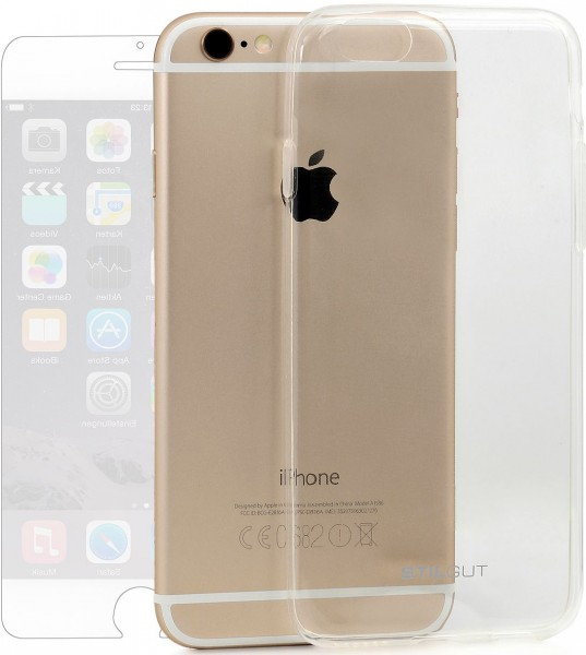StilGut - iPhone 6s Plus bumper Ghost with screen protector