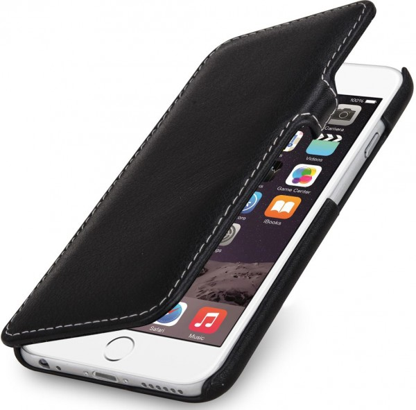 """StilGut - iPhone 6 leather case """"Book Type"""" with clip"""