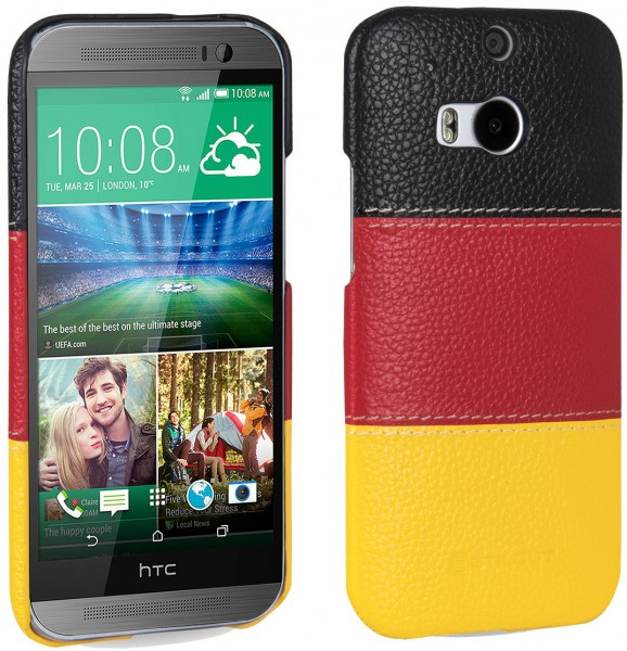 "StilGut - Leather cover ""German Edition"" for HTC One M8 / M8s"
