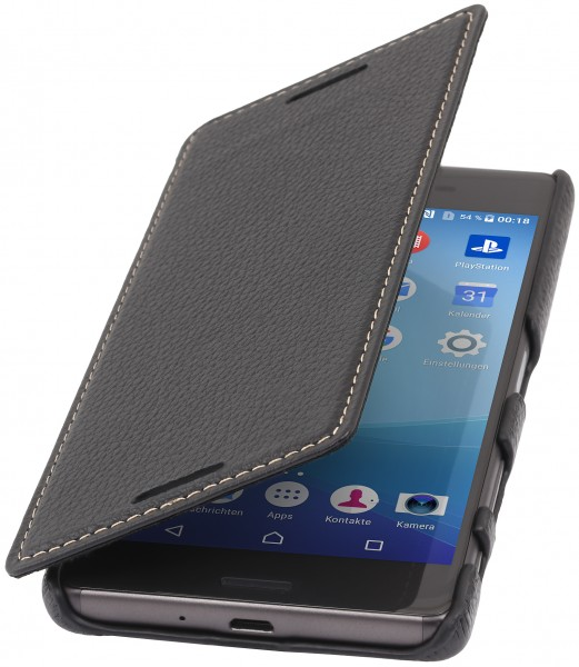 StilGut - Sony Xperia X cover Book Type in leather without clip