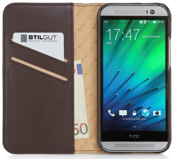 """StilGut - Leather case """"Talis"""" for HTC One M8 / M8s"""