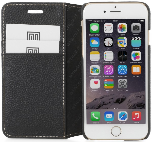 """StilGut - iPhone 6 case, """"Talis"""" with stand function"""