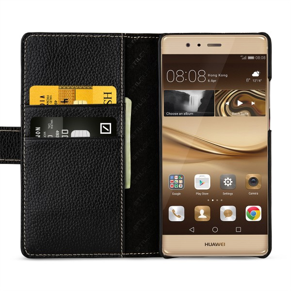 StilGut - Huawei P9 Plus Cover Talis with Card Holder