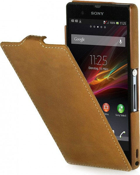 StilGut - UltraSlim leather case for Sony Xperia Z in Old Style