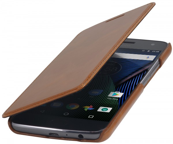 StilGut - Moto G5 Plus Cover Book Type without Clip