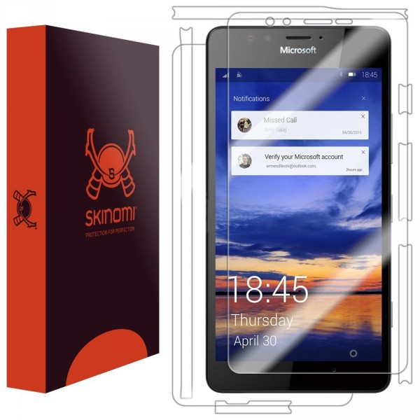 Skinomi - Lumia 950 screen protector TechSkin, back and front sides