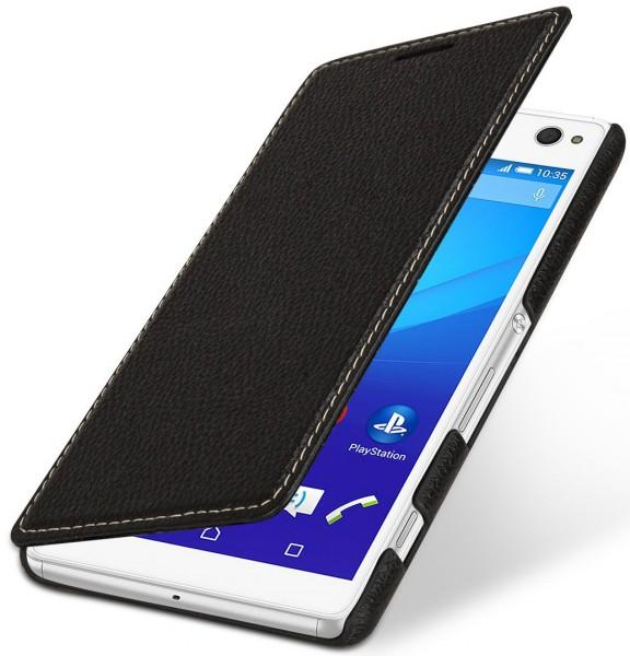 """StilGut - Xperia C4 leather case """"Book Type"""" without clip"""