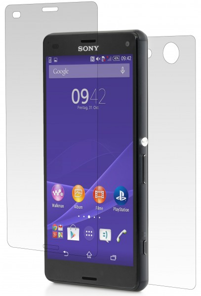 StilGut - Tempered glass screen protector Xperia Z3 Compact,front/back