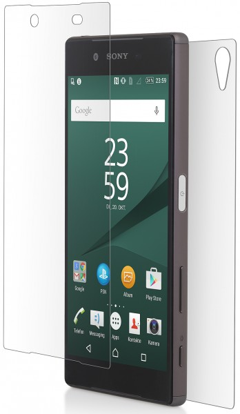 StilGut - Screen protector for Sony Xperia Z5, back and front sides