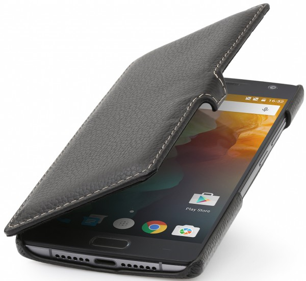 "StilGut - OnePlus 2 leather case ""Book Type"" with clip"