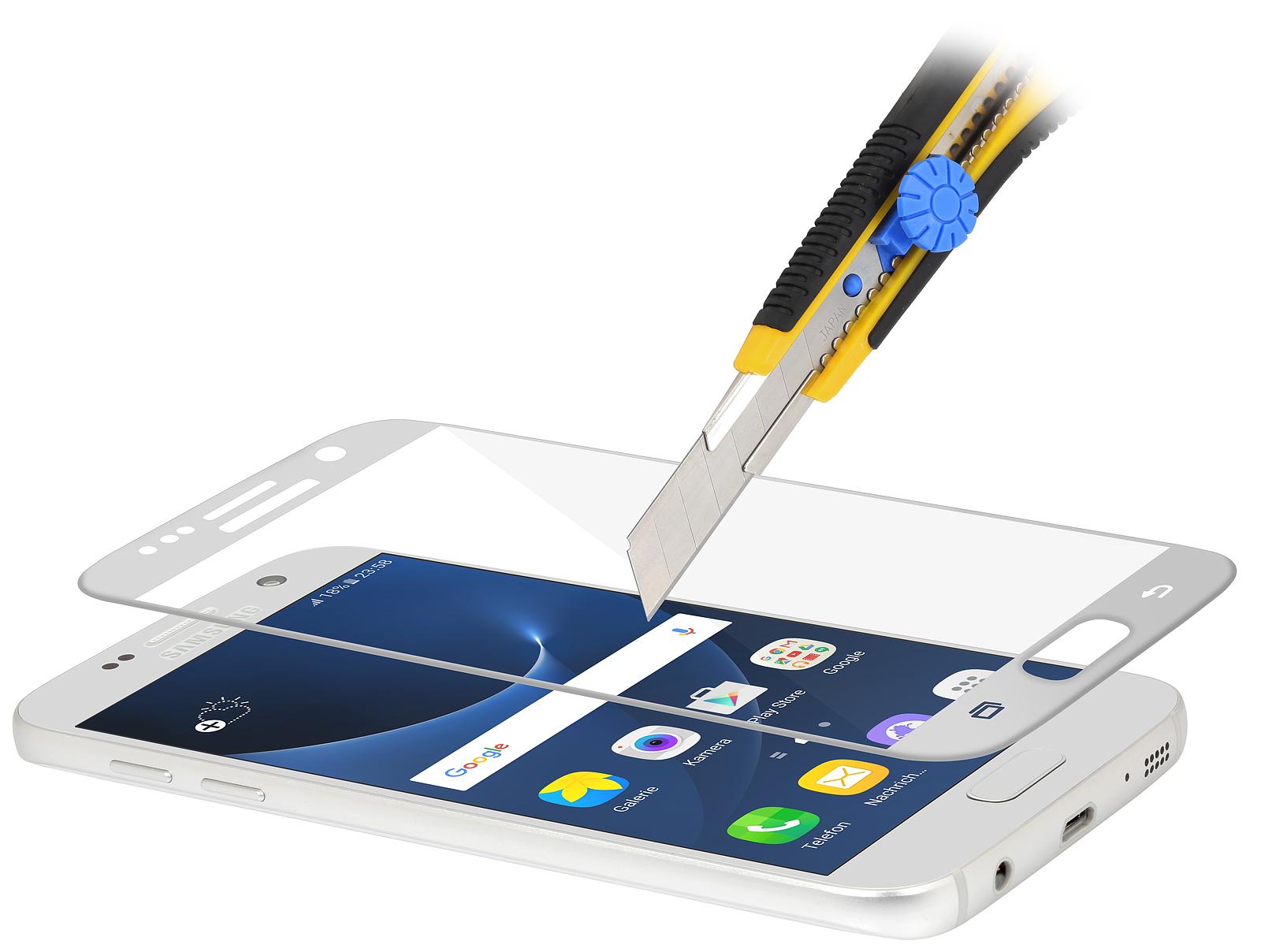 Samsung Galaxy S7 Tempered Glass 3d Curved Silver Stilgut Blackberry Keyone Full Cover Ampamp Black