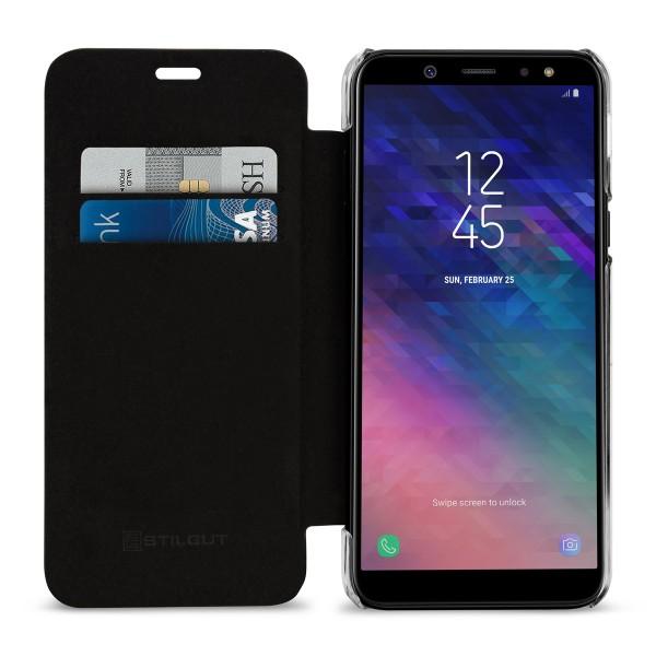 StilGut - Samsung Galaxy A6 (2018) Book Type NFC/RFID Blocking Case