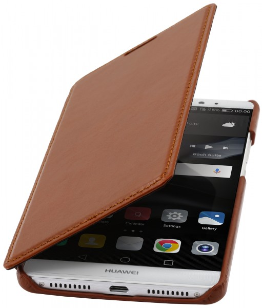StilGut - Huawei Mate 8 cover Book Type in leather without clip