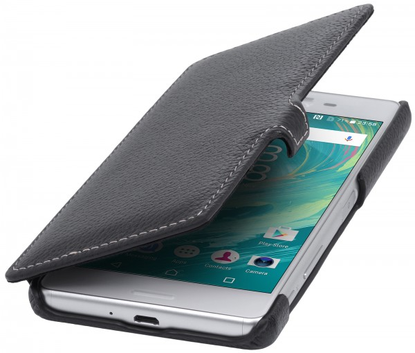 StilGut - Sony Xperia X Performance cover Book Type with clip