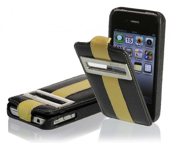 StilGut - Leather case UltraSlim with caller ID for iPhone4/4s (iOS 6)