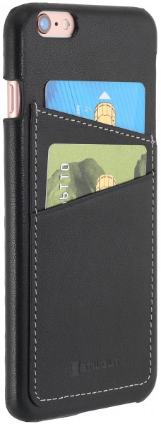 StilGut - iPhone 6s Plus cover in leather with card holder