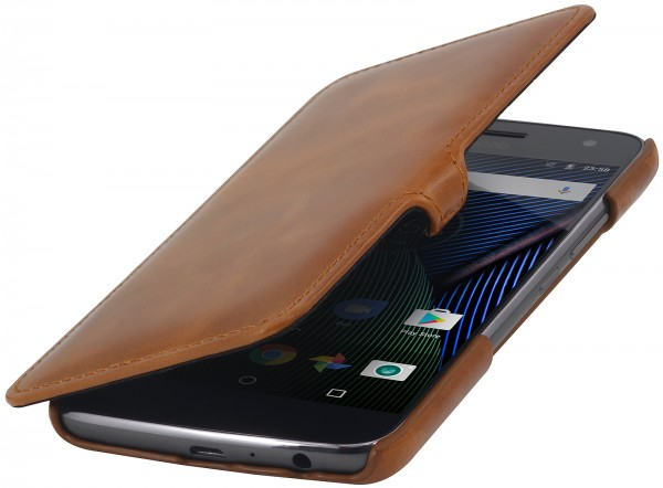 StilGut - Moto G5 Plus Cover Book Type with Clip